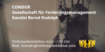 Beitragsbild CONDOR Gesellschaft für Forderungsmanagement / Kanzlei Bernd Rudolph