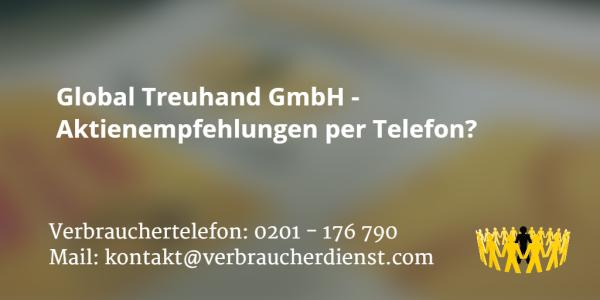 Beitragsbild: Global Treuhand GmbH - Aktienempfehlungen per Telefon