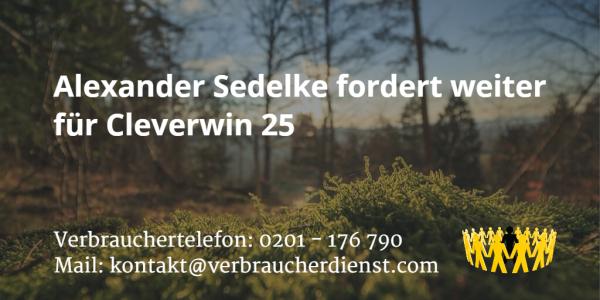 Beitragsbild: Alexander Sedelke fordert weiter für Cleverwin 25