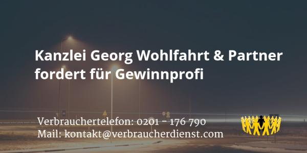 Beitragsbild: Kanzlei Georg Wohlfahrt & Partner fordert für Gewinnprofi