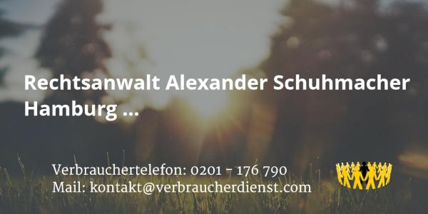 Beitragsbild: Rechtsanwalt Alexander Schuhmacher Hamburg