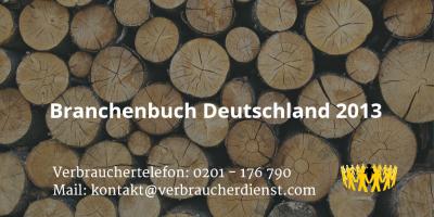 Beitragsbild: Branchenbuch Deutschland 2013