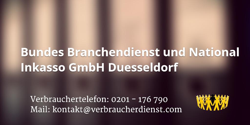 Beitragsbild: Bundes Branchendienst und National Inkasso GmbH Duesseldorf