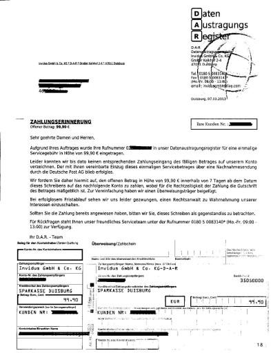 Zahlungserinnerung_Individus_GmbH_Datenautragungsregister