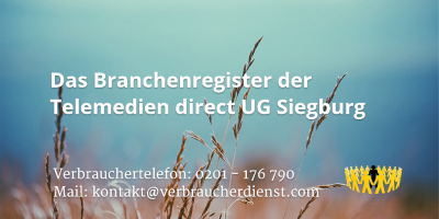 Beitragsbild: Das Branchenregister der Telemedien direct UG Siegburg