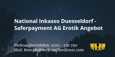 Beitragsbild: National Inkasso Duesseldorf - Saferpayment AG Erotik Angebot