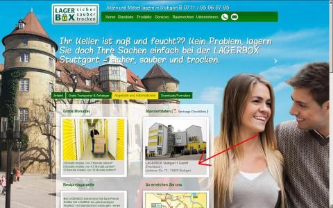 Screenshot: Lagerbox Stuttgart