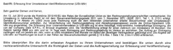 Screenshot: Europaeisches_Zentralregister_UST-IDNR_org_Textausschnitt