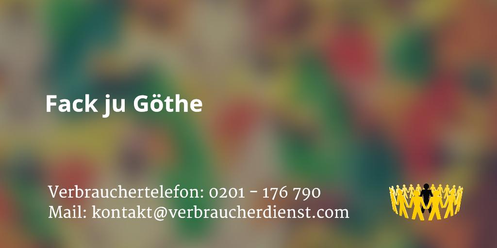 Beitragsbild: Abmahnung von Fack ju Goethe