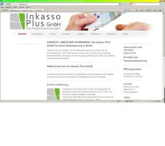 Screenshot: Inkasso_Plus_GmbH_Startseite