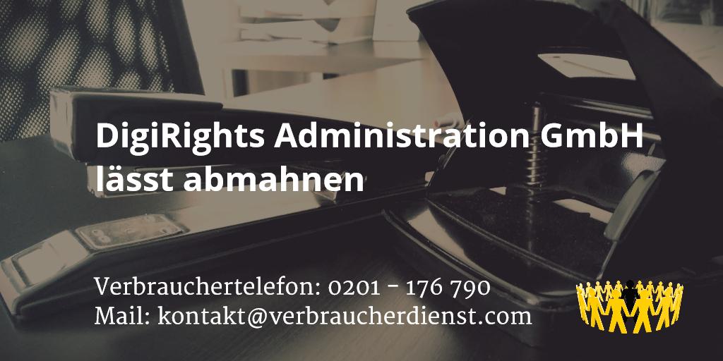 Beitragsbild: DigiRights Administration GmbH lässt abmahnen