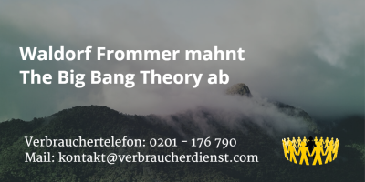 Beitragsbild: Waldorf Frommer mahnt The Big Bang Theory ab