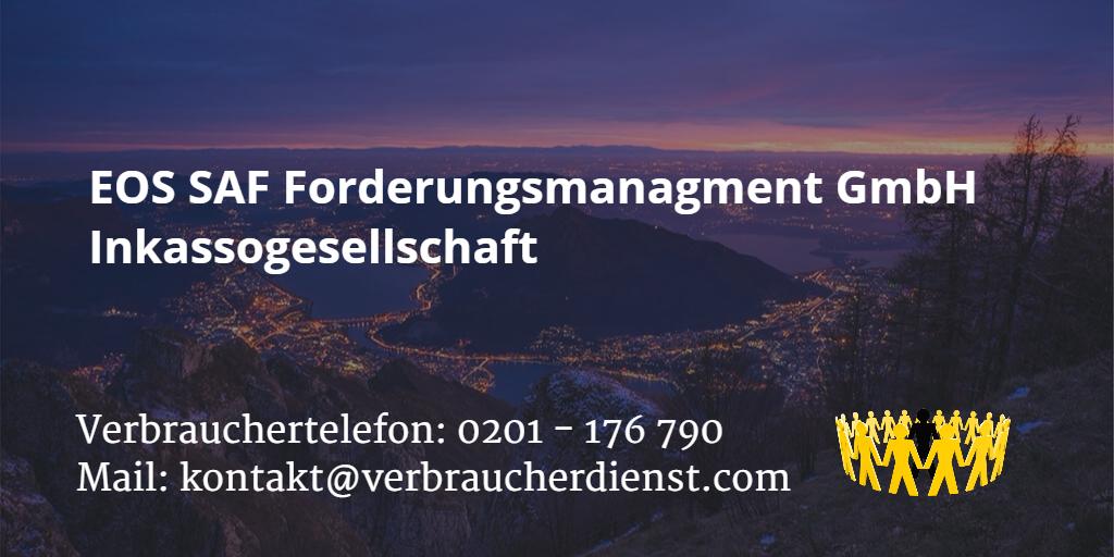 Beitragsbild: EOS SAF Forderungsmanagment GmbH Inkassogesellschaft