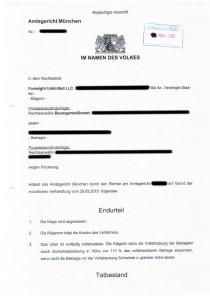 Urteil Forensight RAe BaumgartenBrandt