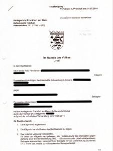 Bild Amtsgerichts-Urteil GG Media