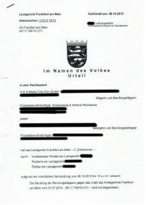 Bild vom Landgerichts-Urteil
