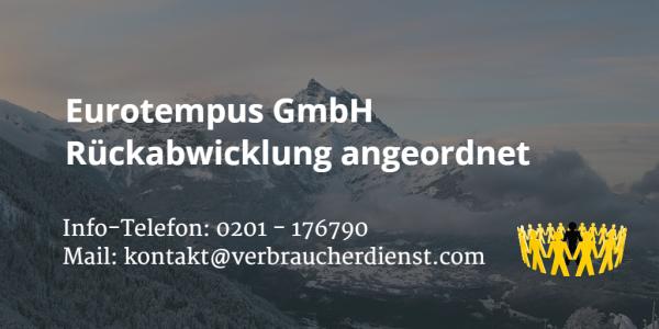 Beitragsbild: eurotempus GmbH | Rückabwicklung angeordnet