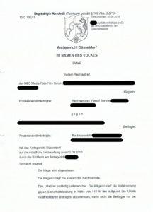 Bild Urteil 13 C 132-15 AG