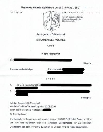 Urteil 44C19216 AG Düsseldorf