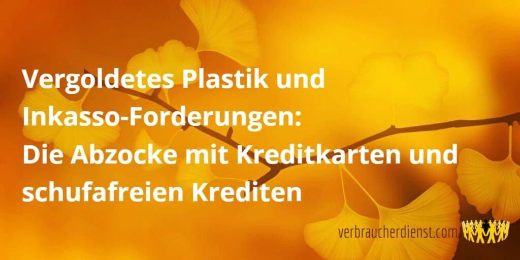 Titel: Vergoldetes Plastik und Inkasso-Forderungen: Die Abzocke mit Kreditkarten und schufafreien Krediten