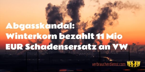 Titel: Abgasskandal: Winterkorn bezahlt 11 Mio EUR Schadensersatz an VW